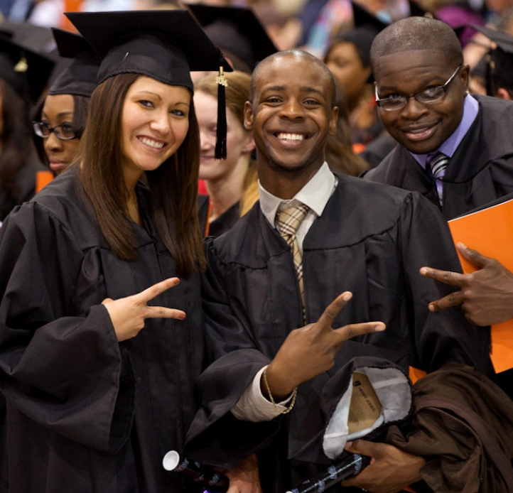 Group of Commencement students